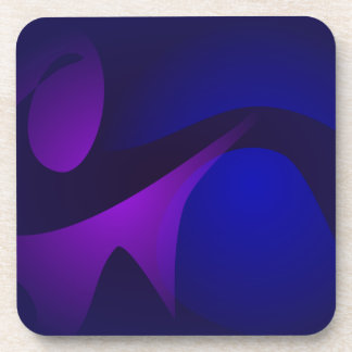Simple Navy Gradation Abstract Art Coasters