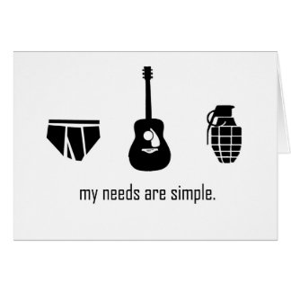 Simple Needs Card