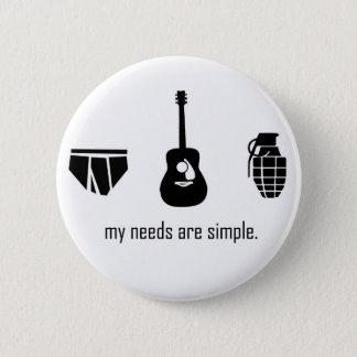 Simple Needs Pinback Button