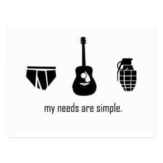 Simple Needs Postcard