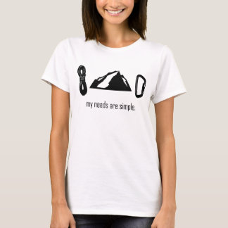 Simple Needs (Rock Climbing) T-Shirt