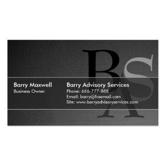 Simple negro moderno elegante profesional tarjeta personal