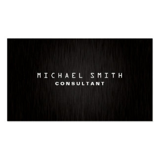 Simple negro moderno llano elegante profesional tarjetas de visita