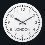 """Simple Newsroom Large Clock<br><div class=""""desc"""">Simple Newsroom Wall Clock. Customize the name of city as desired.</div>"""