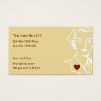 Simple Nurse Business Card