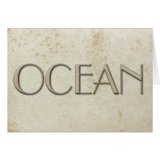 Simple Ocean Vintage Stained Paper Card