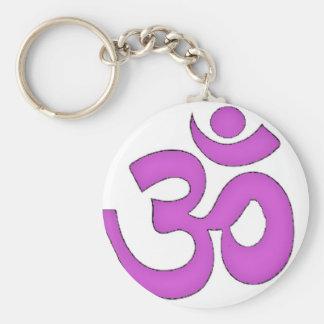 simple om,aum,sanskrit, mantra, yoga, tantra keychain
