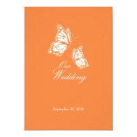 Simple Orange Butterflies Wedding Announcement 2 (<em>$2.06</em>)