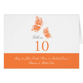Simple Orange Butterfly Table Place Card