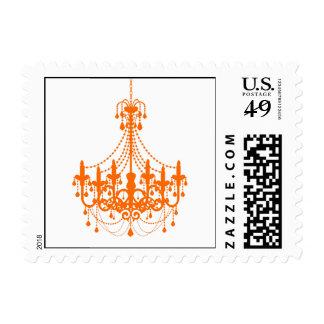 Simple Orange Chandelier Invitation Postage