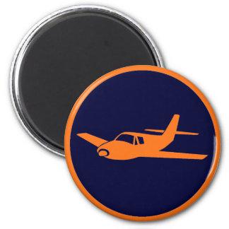 Simple orange navy blue airplane magnets