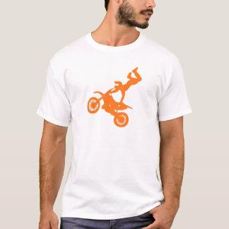 Simple orange white motocross dirt bike T-Shirt