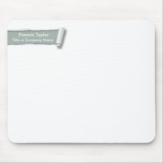 Simple, original gray ripped paper design... mouse pad