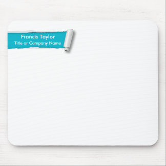 Simple, original turquoise ripped paper design... mouse pad