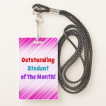 """[ Thumbnail: Simple """"Outstanding Student of The Month!"""" Badge ]"""