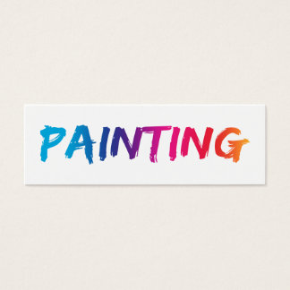 Simple Painter Business Cards New