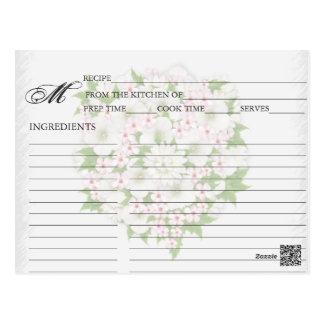 Simple Pale Pink Flower Bouquet Recipe Cards