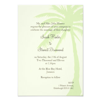 Simple Palm Tree Wedding Invitation