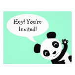 Simple Panda bear Birthday Invitation