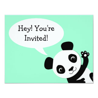 Simple Panda bear Birthday Invitation