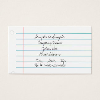 Simple Paper Business Card