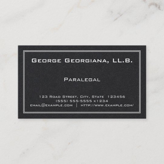 Simple paralegal business card zazzle simple paralegal business card colourmoves