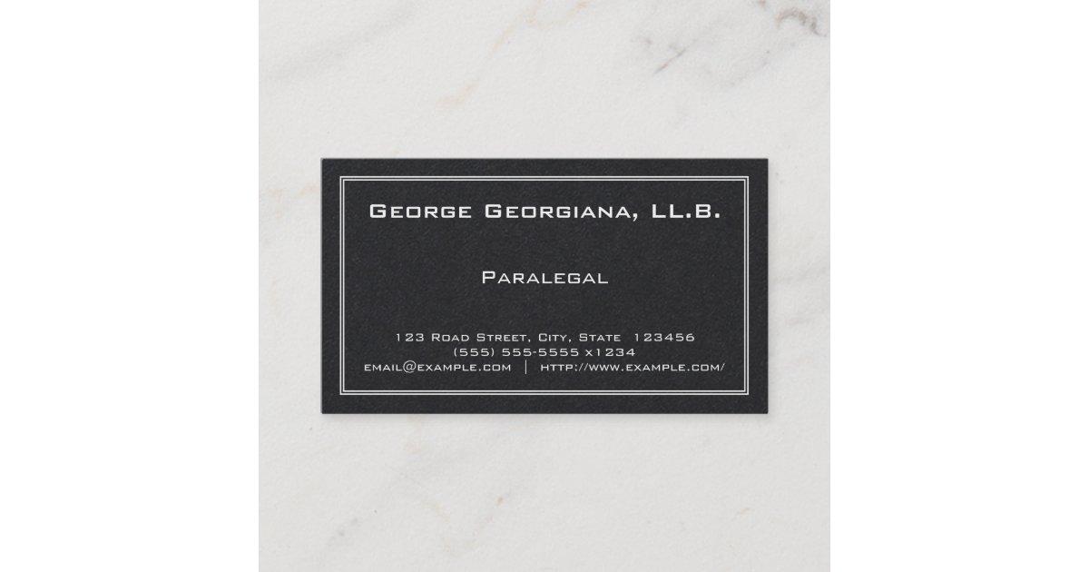 Simple Paralegal Business Card | Zazzle.com