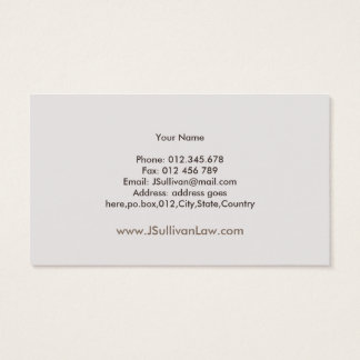 Simple Pastel Law Firm Professional Business Card