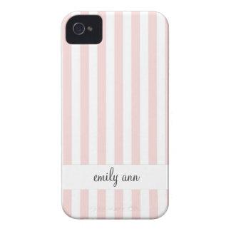 Simple Pastel Rose Stripes Pattern iPhone 4 Case-Mate Case