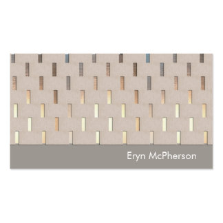 Simple Patterned Beige and Gold Healing Arts Business Card Templates