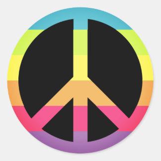 Simple Peace Symbol Classic Round Sticker