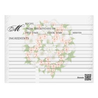 Simple Peach Flower Bouquet Recipe Cards