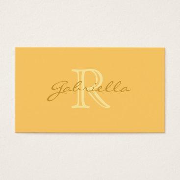 Professional Business Simple Peach: Monogram Business Cards