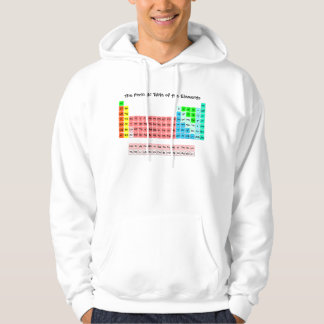 Simple Periodic Table (Handwritten Style) Hoodie