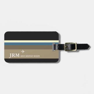 simple, personalized elegant bag travel striped luggage tag