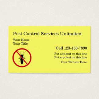 Simple Pest Control Business Cards
