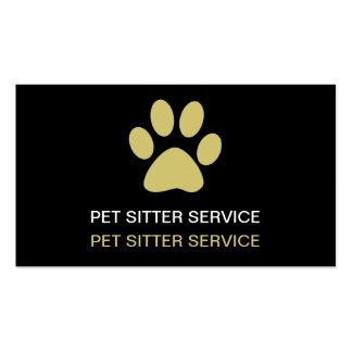 Simple Pet Care Business Cards