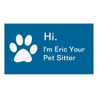 Simple Pet Grooming Business Cards