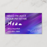 Simple Pet Sitter Business Cards