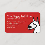 Simple Pet Sitter Design Business Card
