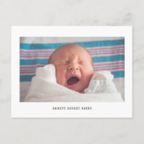 Simple Photo Birth Announcement