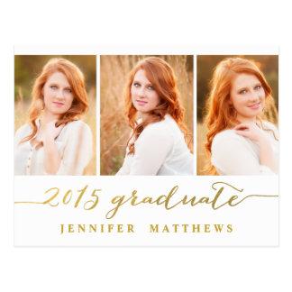 Simple Photo Collage | Graduation Party Invitation Postcard
