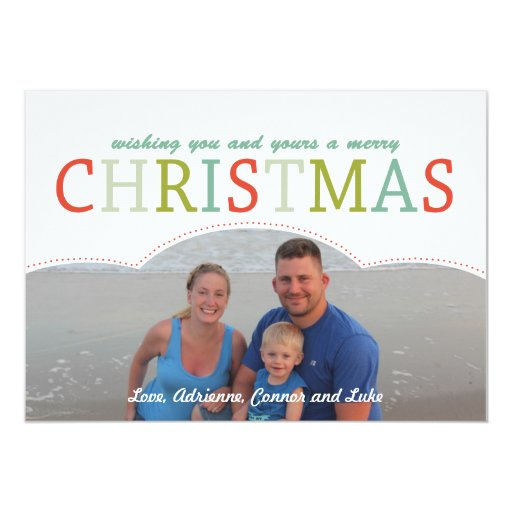 Simple photo Family Christmas Card mod colors