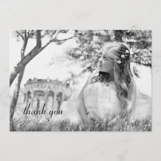 Simple Photo First Communion Thank You Note