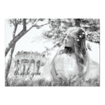 Simple Photo First Communion Thank You Note Card