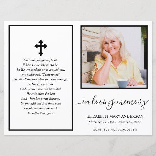 Simple Photo Funeral Program