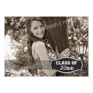 Simple Photo Graduation Announcement (black)