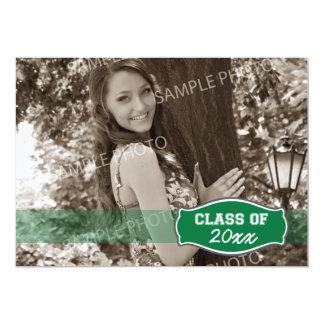 Simple Photo Graduation Announcement (green)
