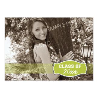 Simple Photo Graduation Announcement (lime)