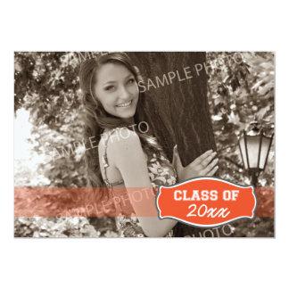 Simple Photo Graduation Announcement (orange)